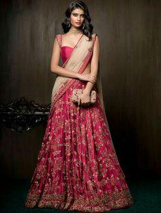 100 Latest Designer Wedding Lehenga Designs for Indian Bride - LooksGud. Lehenga Choli Designs, Wedding Lehenga Designs, Ghagra Choli, Designer Bridal Lehenga, Indian Bridal Lehenga, Indian Sarees, Designer Lehanga, Bridal Sarees, Pakistani
