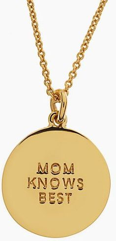 mothers day pendant. kate spade.