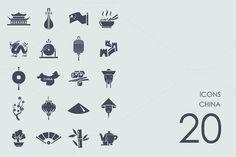 China icons by Palau on @creativemarket