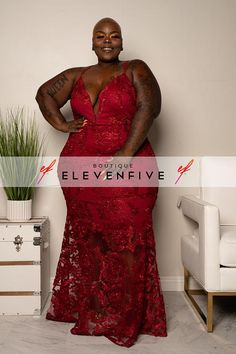"""Plus Size """" Queen of The Night"""" Embroidered Lace Gown - Burgundy Plus Size Gowns Formal, Plus Size Party Dresses, Plus Size Maxi Dresses, Plus Size Outfits, Shift Dresses, Midi Dresses, Burgundy Formal Dress, Plus Size Summer Fashion, Black Lace Gown"""