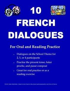 One-page French dialogues, ideal for conversations or reading exercises. Language Study, French Language Learning, Teaching French, Communication Orale, French Conversation, Listen And Speak, Learn To Speak French, Public Speaking Tips, School