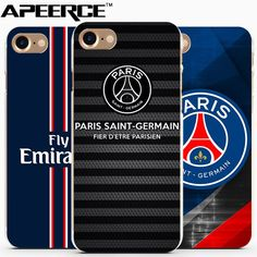 Coque PSG 2017 Cover For Iphone 7Plus Case Transparent Hard PC Mobile Phone Accessories For Iphone 7 6 6s Plus 5 5S Capinhas