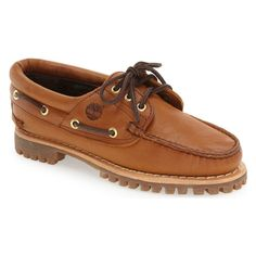 ae7eebb8f05 Timberland Women Flats Oxfords Heritage Noreen 3 Eye Boat Shoes Wheat  Timberlands Women
