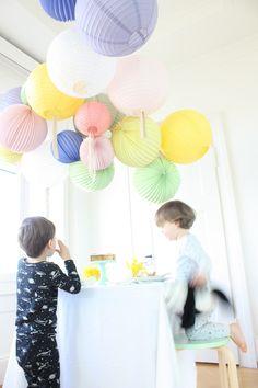 Lampions pastels pour un décor de printemps ! | Pastel paper lanterns for spring (easter breakfast)