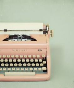 call me crazy, but i'm going to own a beautiful eggshell blue typewriter someday :) for those days when my hand hurts too much to write in a certain notebook! (speaking of which I need to find a new notebook...)
