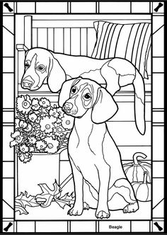 Dogs Stained Glass sample pages @ Dover Publications Dog Coloring Page, Colouring Pics, Animal Coloring Pages, Coloring Book Pages, Printable Coloring Pages, Coloring Pages For Kids, Coloring Sheets, Kids Coloring, Dover Publications