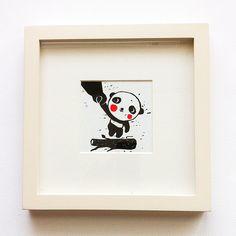 Thank You Panda Print by fushan159 on Etsy, $28.95