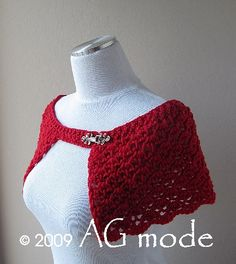 Ana shell shoulderette   by AG mode, via Flickr  inspiration for shape and stitch xtunisian though