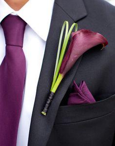 WeddingChannel Galleries: Purple Calla Lily Boutonniere