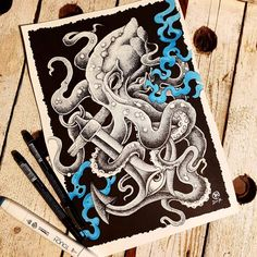 Octopus done by @rustemhorzum at @tattoostudio115 Bergen, Norway