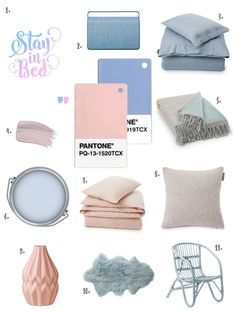 The Design Sheppard - Pantone Colour of the Year 2016 Rose Quartz & Serenity - Products for the Bedroom