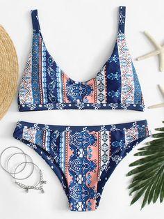 SheIn offers Ornate Print Bikini Set & more… Shop Ornate Print Bikini Set online. SheIn offers Ornate Print Bikini Set & more to fit your fashionable needs. Bikini Babes, Bikini Beach, Bikini Swimwear, Bandeau Bikini, Summer Bathing Suits, Cute Bathing Suits, Summer Suits, Bathing Suit Covers, Cute Swimsuits