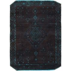 "4'11"" x 6'9"" Color Transition Rug In Aqua & Burgundy"