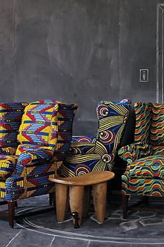 African chair | LITTLE AFRICAN FLAIR TO YOUR ROOM WITH THESE AFRICAN PRINT CHAIRS ...