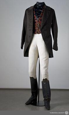 Man's costume, c. 1845. Item no. 110742.   ---  Mansdräkt från ca. 1845. Inv. nr. 110742.   ---  Photo: Mats Landin, Nordiska museet.