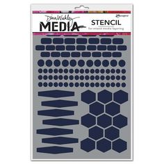 Dina Wakley Media Stencil: Essentials - MDS45540