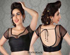 Black Net Fabric Saree Blouse http://rajasthanispecial.com/index.php/black-net-fabric-saree-blouse.html