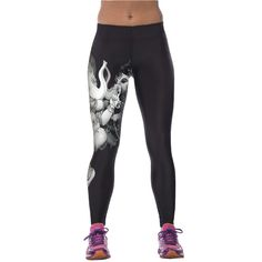 NEW Sexy Girl Women Alice in Wonderland Cheshire cat 3D Prints High Waist Workout Fitness Leggings Pants