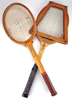 Love my vintage tennis racquets...they look just like these...we had lots of happy family times with these...
