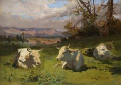 Cows Resting by Rosa Bonheur | Art Posters