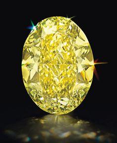 An Oval-Cut Fancy Intense Yellow Internally Flawless Diamond of 68.35cts.