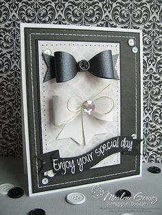 Scrappin Cookie: My Craft Spot Monday Challenge #123 - Bow Tie Wedding