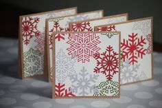 Handmade Christmas gift tags | ... Handmade Mini Christmas Cards Holiday Gift Cards Gift Tags Snowflakes
