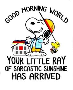 Funny Day Quotes, Hug Quotes, Snoopy Quotes, Snoopy Love, Charlie Brown And Snoopy, Snoopy And Woodstock, Good Morning Funny Pictures, Cute Good Morning Quotes, Good Morning Snoopy