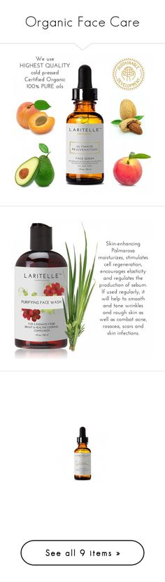 """""""Organic Face Care"""" by laritelle ❤ liked on Polyvore featuring beauty products, skincare, face care, face toners, face moisturizers, paraben free face moisturizer, face moisturizer, haircare and hair conditioner"""