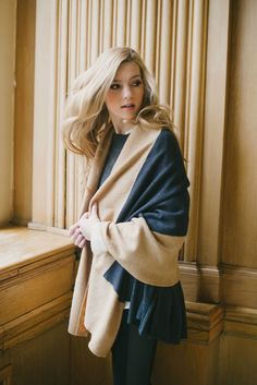 This two-toned cape is the epitome of chic.