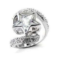 Fantasy Jewelry Box Womens Aliza's Exquisite Cubic Zirconia Star Ring - Final Sale