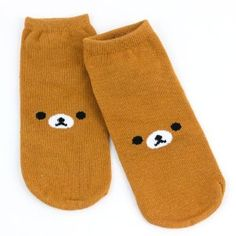 Rilakkuma Adult Ankle Socks by San-x. $6.99. Fashion ankle socks. Comfy socks that keep you cool. This pair of Rilakkuma ankle socks features a Rilakkuma face on the top. Elasticized top.Material: Cotton, SpandexContents: 1 x Pair of SocksSize: 9.1-9.8 in, 23-25 cm
