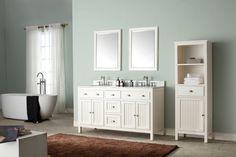 Spend money on Hamilton 43 Single Bathroom Vanity Set Double Sink Bathroom, Vanity Cabinet, Single Bathroom Vanity, Vanity Set, 42 Inch Vanity, Bathroom Ensembles, Kitchen Bath Collection, Marble Vanity Tops, Linen Storage
