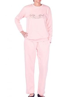 Women's Athletic Clothing Sets - Pembrook Womens Embroidered Fleece Sweatsuit Set *** You can find more details by visiting the image link.