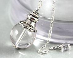 Amethyst Dowsing Pendulum Raw Crystal Pendulum by MartyTribble