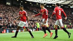 Manchester United memetik hasil positif saat berhadapan