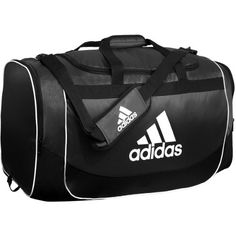 adidas Defender Duffel -- The new Defender medium duffel is multi purpose and has loads of value with ventilated wet/dry shoe tunnel and internal valuables pocket.