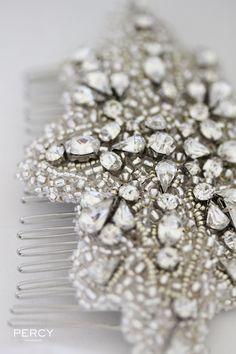 Rhinestone wedding headpiece by Percy Handmade