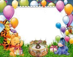 Birthday quotes for kids disney winnie the pooh 16 super ideas Disney Winnie The Pooh, Winnie The Pooh Pictures, Winnie The Pooh Themes, Winnie The Pooh Birthday, Birthday Photo Frame, Happy Birthday Frame, Birthday Frames, Birthday Background, Scrapbook Da Disney