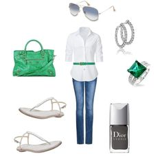 a little green, created by lizziesc on Polyvore