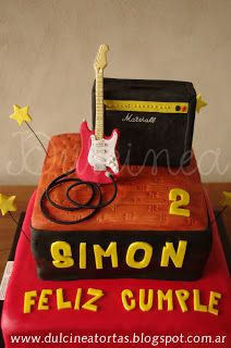 Torta Fender y Marshall