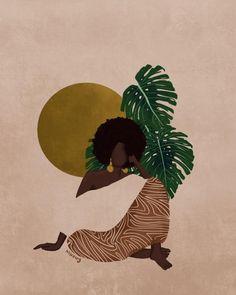 Black Art Painting, Black Artwork, Black Love Art, Black Girl Art, Art Girl, Frida Art, Illustration Art, Illustrations, Abstract Line Art