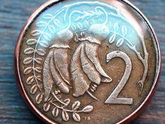New Zealand Kowhai Flower Coin Pendant by Lorinda3LJewelry on Etsy - $21.00