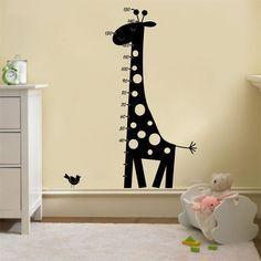 Adesivo Para Parede Régua Girafa - Adesivos Dicolar