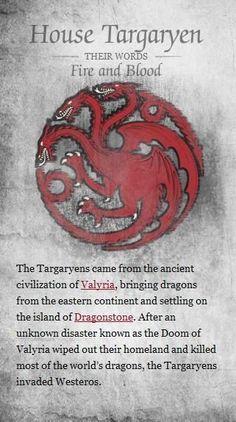 Game of Thrones Houses House Targaryen House Baratheon House Stark House Lannister House Tyrell House Arry. Game Of Thrones Dress, Got Game Of Thrones, Game Of Thrones Quotes, Familia Targaryen, Casa Targaryen, Daenerys Targaryen, Game Of Thones, House Games, Mother Of Dragons