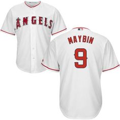 Angels  9 Cameron Maybin White Cool Base Stitched Youth MLB Jersey b5fe4a06b
