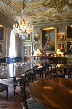 Syon House Interior | The Private Dining Room at Syon Park.