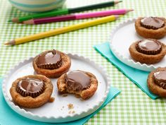 Chocolate Peanut Butter Cup Cookies Recipe : Ree Drummond : Food Network - FoodNetwork.com