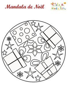 Modern De Mandala De Noel Mold - Coloring Page Ideas Mandala Coloring, Colouring Pages, Coloring Sheets, Coloring Books, Christmas Themes, Christmas Crafts, Christmas Decorations, Op Art, Theme Noel