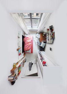Dezeen architecture and design magazine Foto Picture, Mini Loft, Interior Decorating, Interior Design, Studio Interior, Luxury Interior, Decorating Ideas, Birds Eye View, Interior Exterior